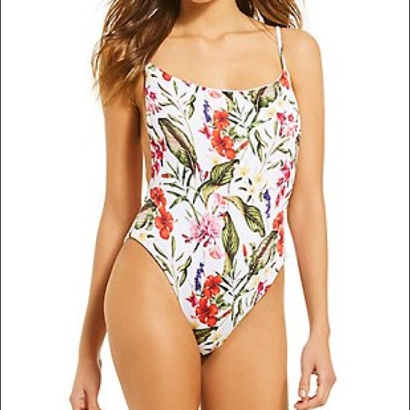 70e11ed481ecc Gianni Bini Swim | Botanical Babe Ribbed 1pc Suit | Poshmark